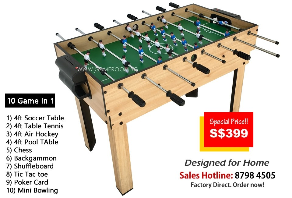 4ft Kids Edition Soccer Table (10 Games in 1)