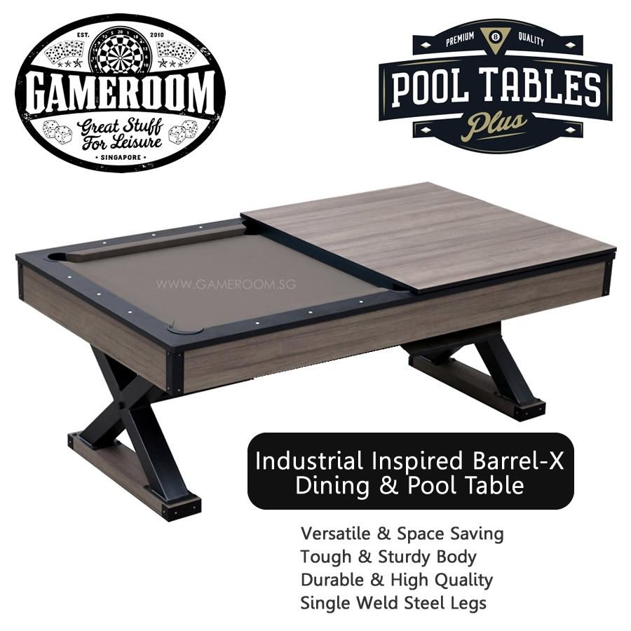 7ft Barrel X Pool Table