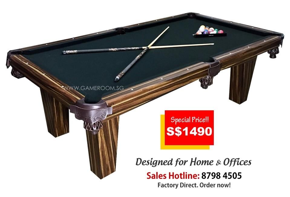 8ft Mahogany Pool Table