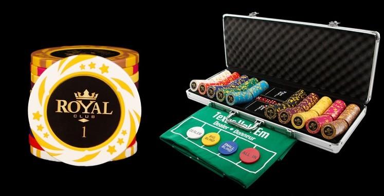 500 Chips & Poker Set w/ Aluminum Carry Case