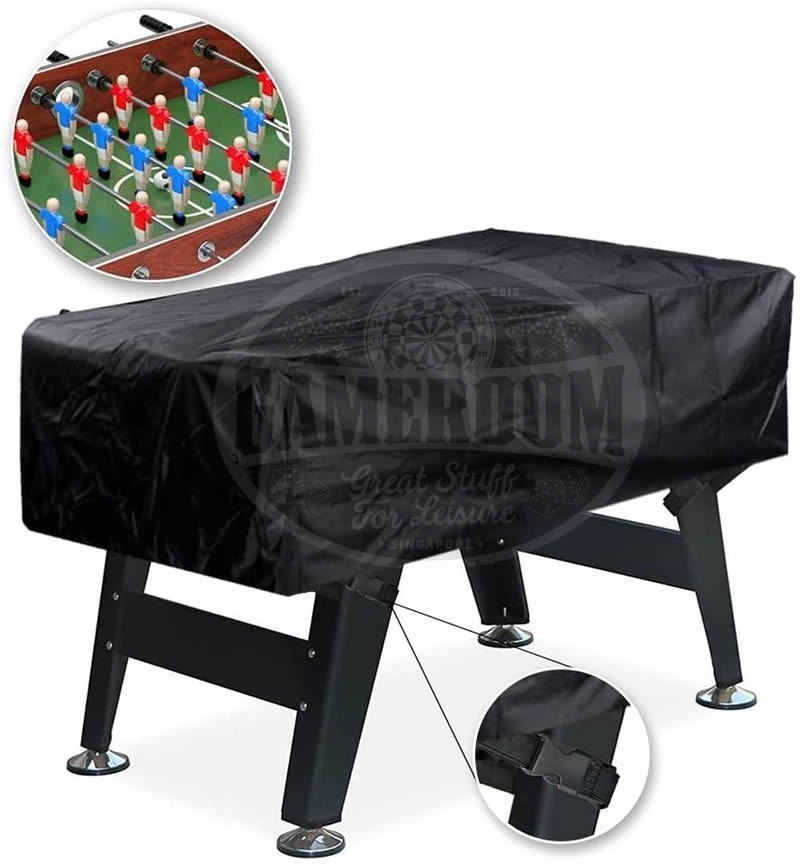 Weatherproof 5ft Foosball Table Cover with Leg Secure Clip Strap