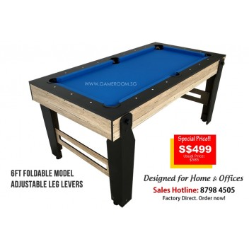 6ft Foldable Pool Table