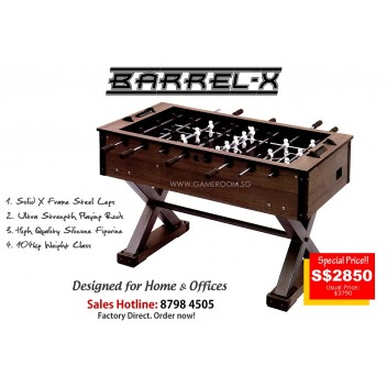 5ft Barrel-X Soccer Table