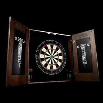 "18"" Bristle Dartboard w/ Mahogany Cottage Style Cabinet Set"