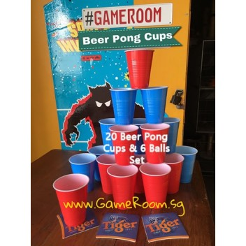 20pcs Beer Pong Cup & 6 Playing Balls