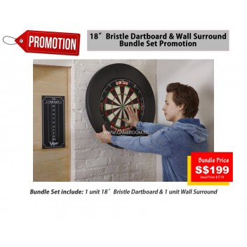 BUNDLE PROMO Bristle Dartboard & Surround Protector