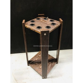 8 Hole Cue Stick Standing Rack