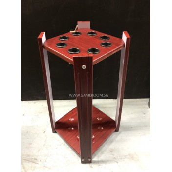 8 Hole Cue Stick Standing Rack (Wine Colour)