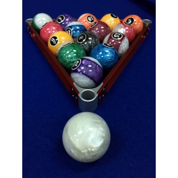 "2.25"" Crystal Numbered Pool Ball Set"