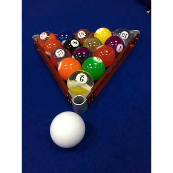 "2.25"" Clear Numbered Pool Ball Set"