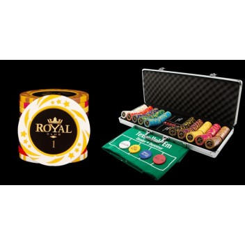 500 Chips & Poker Set w/ Aluminum Carry Case